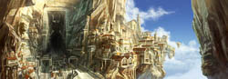 concept art, digital paintings for the environments of the Animated TV show